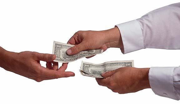 Handing Over Money on Fourerr