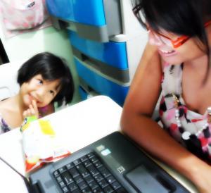 freelancing mom