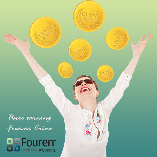 Fourerr User Earning Coins
